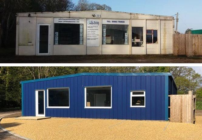 New Wight Marine Building comparison